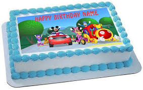 Mickey Mouse Clubhouse 1 Edible Birthday Cake Or Cupcake Topper