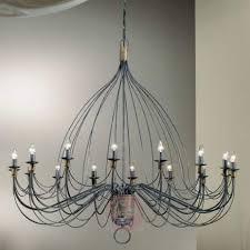 chandelier filo 140 cm sixteen bulbs