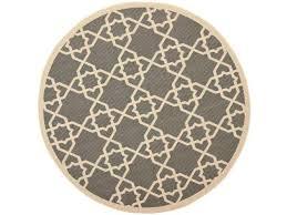 image of 5 ft round kitchen rug grey