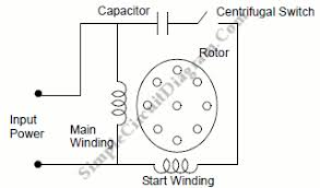 capacitor start ac induction motor simple circuit diagram capacitor start ac induction motor