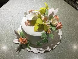 Blueberry Lemon Cake Decorated With Sugar Flowers Oc 3264 X 2448