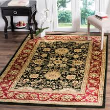 safavieh lyndhurst traditional oriental black red rug 8 x