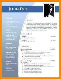 Microsoft Word 2007 Resume Templates Free Download Format In Ms 07