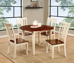 Round Country Kitchen Table Furniture Of America Two Tone Carmen Round Dining Table Home
