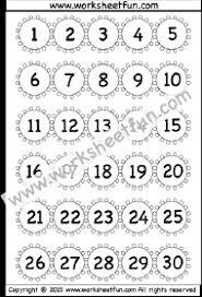 1 25 Number Chart Numbers 1 30 Free Printable Worksheets Worksheetfun