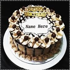 Crunchy Chocolate Cake With Name