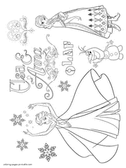 Over 100 beautiful coloring pages frozen 2. Frozen Coloring Pages Free Printable Pictures For Girls
