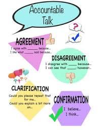 Accountable Talk Anchor Chart By Bobbi Lynn To Teach Their Own