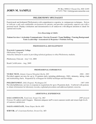 Phlebotomist Res Phlebotomist Resume Examples As Example Of Resume