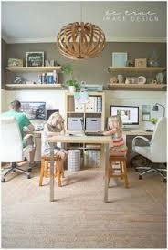 basement office setup 3. 22 Creative Workspace Ideas For Couples Basement Office Setup 3