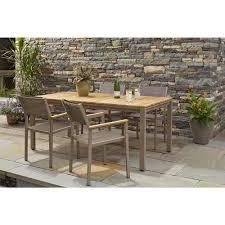 lot of 2 hampton bay barnsdale teak 7 piece patio dining set dallas surplus