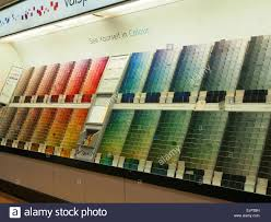 Bh Paint Color Chart A Display Of Colour Charts For Paint Mixing In A Large Diy