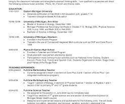 Teaching Assistant Resume Unusual Objective Teachingesume Teacher Interesting Elementary 93
