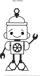 Robot Coloring Pages For Kids To