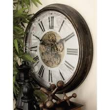 24 in vintage adventure warrior gear wall clock
