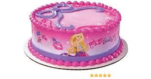 Amazoncom Barbie Doll Edible Cake Border Decoration Toys Games