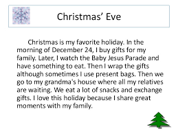 the paragraph holidays christmas eve christmas is my favorite holiday