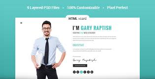 Raptish Premium VCardResume HTML Template By PremiumLayers Gorgeous Personal Resume Website