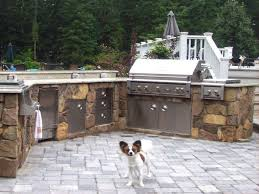 kitchen l shaped outdoor kitchen dimensions raw exposed beam ceiling white porcelain tiled backsplash back