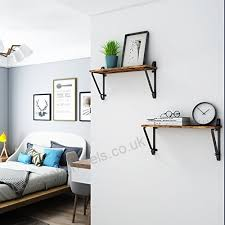 mkouo rustic wood floating shelves