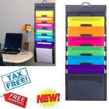 wall file organizer doent holder pocket letter hanging office folder storage 3 pocket hanging wall file