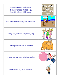 34 FREE Tongue Twisters Worksheets