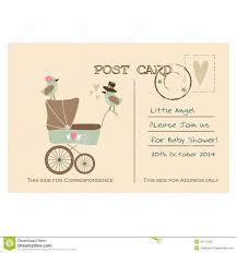 baby postcard vintage cute baby shower greeting postcard invitation illustration