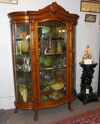 antique curio cabinet curved glass on pictures to enlarge then back on vintage oak cabinets antique curio cabinet