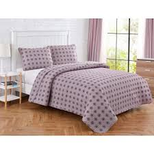 3 purple quilts bedding sets