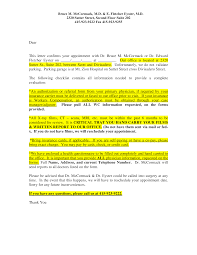 Dr Letter Template Doctor Appointment Confirmation Letter Templates At