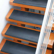 secure rubber treads for stairs can outsmart slick and slippery stairways