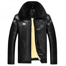 autumn winter faux fur collar pu leather jacket men thick warm velvet mens coat vintage men casual motorcycle