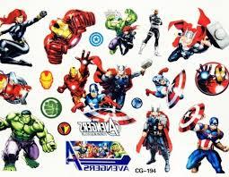 Dočasné Barevné Tetování Pro Děti Avengers