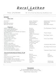 Movie Theatre Resume Theatre Resume Sample Stage Manager Resume Template Music Producer