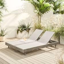 portside outdoor textilene chaise
