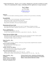 scholarship resume objective cipanewsletter scholarship resume objective for scholarship application sample x