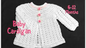 Crochet Baby Sweater Pattern Mesmerizing Crochet Baby Cardigan Matinee Coat Or Jacket 4848 Months Fast And