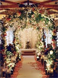 indoor wedding arches. gorgeous fairytale wedding ceremony decoration ideas indoor arches