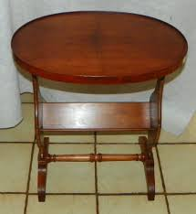 pine and pecan oval bookshelf end table side by round for plans 15