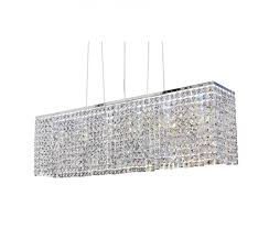 rectangular miami crystal pendant chandelier