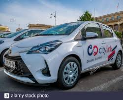 Bucharest/Romania - 05.16.2020: Citylink car rental service in Bucharest.  Toyota hybrid cars for rent or car sharing Stock Photo - Alamy