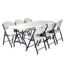 black n white furniture. Lifetime Combo - 6\u0027 Commercial Grade Folding Table And (6) Chairs, Black N White Furniture