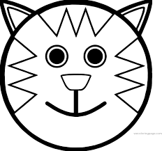 Small Picture Cartoon Smiley Face Cat Coloring Page Wecoloringpage