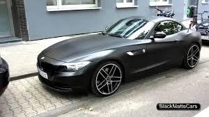 BMW 3 Series bmw z4 matte : BMW Z4 in Matte Black HD covering peinture noir mat - YouTube