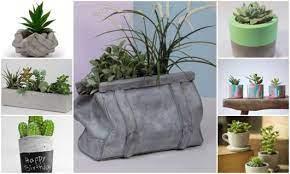 Você pode fazer seu próprio vaso com dois recipientes e algumas ferramentas. Vaso De Cimento 75 Modelos Lindos Na Decor E Como Fazer Diy