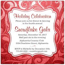 Brilliant Emblem Red Holiday Party Invitations Paperstyle