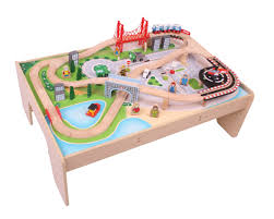 Train Set Table With Drawers Bigjigs Rail Train Tables Wooden Train Table Wooden Railway Table
