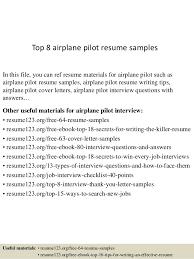 Pilot Resume Template Interesting Top 48 Airplane Pilot Resume Samples