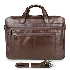 leather briefcase vintage shoulder messenger