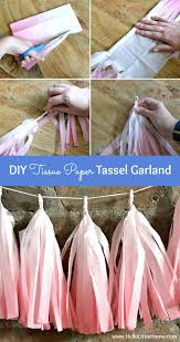 step by step instructions for making a diy tissue paper tassel garland 7